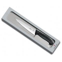 Couteau à découper Victorinox SwissClassic noir en boîte