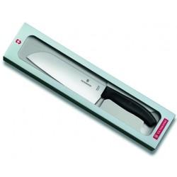 Couteau Santoku Victorinox SwissClassic 17cm noir en boîte cadeau