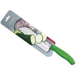 Couteau Santoku Victorinox SwissClassic 17cm alvéolé manche coloré