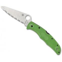 Couteau Spyderco Pacific Salt 2 vert lame à dents