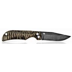 Couteau Fred Perrin 440C/G10 bicolore marron