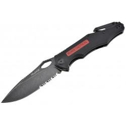 Couteau Ruike M195-B Tactical Rescue lame mixte D2 manche G10