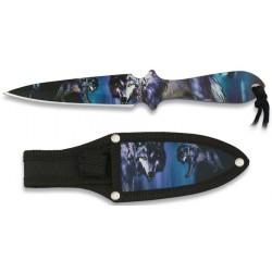 Couteau de lancer Albainox 3D loup 16,9cm