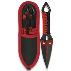 Set de 3 couteaux de lancer Albainox Red Eagle