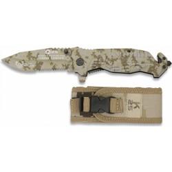 Couteau pliant FOS K25 noir/coyote 19940-A