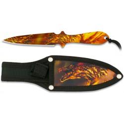Couteau de lancer Albainox Dragon 3D 16,9cm