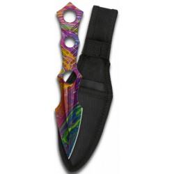 Couteau de lancer Albainox 3D Colorful 18,4cm - 32388