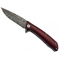 Couteau Puma-Tec bois de santal 10,5cm damas industriel - 311511