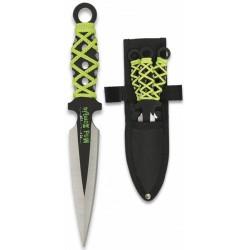 3 couteaux de lancer Albainox Mad Zombi