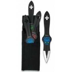 3 couteaux de lancer Albainox Skulls - 32256