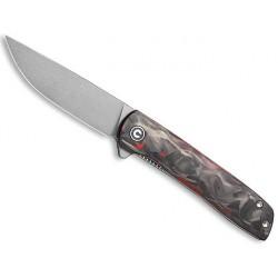 Couteau Civivi BO fibre de carbone noir/rouge