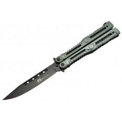 Couteau papillon Max Knives P47 3Cr13 aluminium anodisé vert