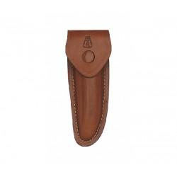 Etui en cuir marron - 12 cm