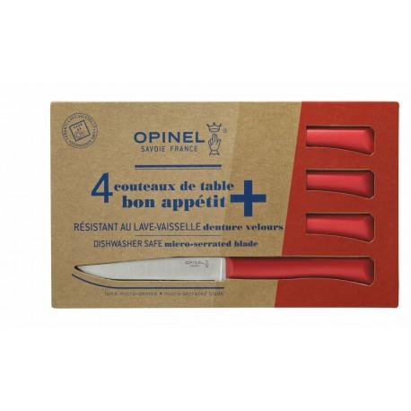 Coffret de 4 couteaux de table Bon Appétit+ rouge