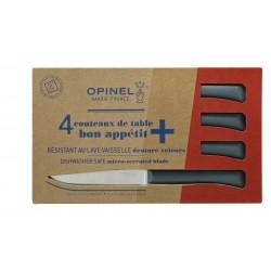 Coffret de 4 couteaux de table Opinel Bon Appétit+ anthracite