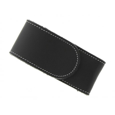 Étui cuir noir Pielcru 11/12cm