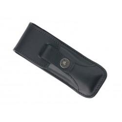 Étui randonneur prestige en cuir noir 12/13cm