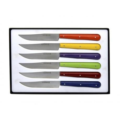 Coffret 6 couteaux de table Nontron tissu compressé