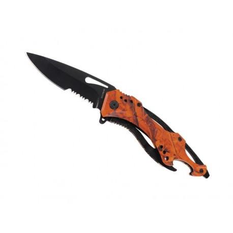 Couteau Herbertz inox camouflé orange 12cm avec clip