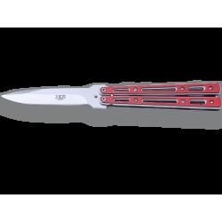 Couteau Papillon manche rouge Joker 484