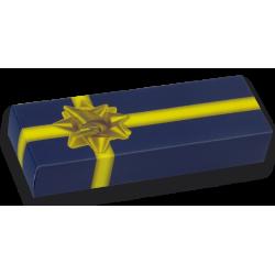 Boîte cadeau bleue/jaune 135 x 45mm