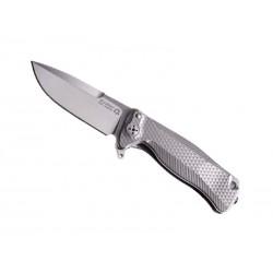 Couteau LionSteel SR22 Titanium gris