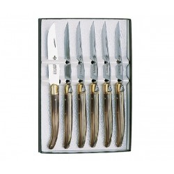 Coffret 6 couteaux table Laguiole 888