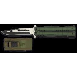 Couteau papillon K25 vert lame 103mm 02130