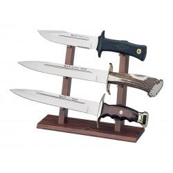 Support bois pour 3 poignards Muela