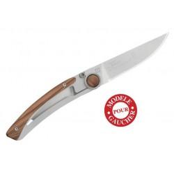 Couteau gaucher Claude Dozorme Le Thiers Liner Lock olivier 4937