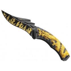 Couteau Herbertz dragon alu noir 12,5cm inox 588813