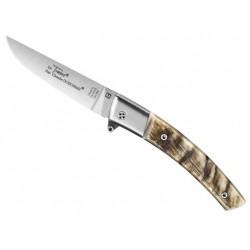 Couteau Le Thiers Claude Dozorme Secure corne de bélier 11cm inox