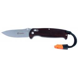 Couteau Ganzo G7412WD2WS manche bois avec sifflet