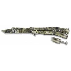 Couteau papillon Albainox Phyton vert lame 105mm