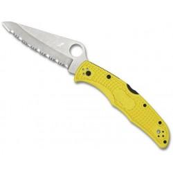 Couteau Spyderco Pacific Salt 2 jaune lame à dents