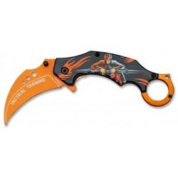 Couteau Karambit d'entraînement Albainox orange