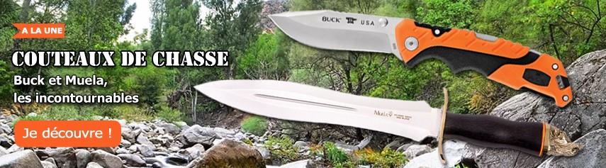 Couteaux de chasse Buck et Muela